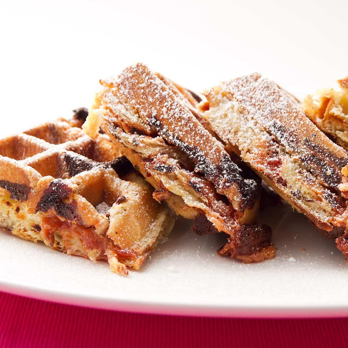 Guava and Cream Cheese Puff-Pastry Waffle Recipe