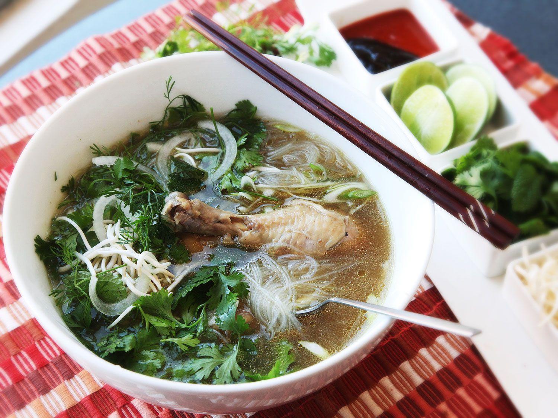 30-Minute Pressure Cooker Pho <i>Ga</i> (Vietnamese Chicken Noodle Soup)