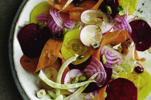Raw Root Vegetable Salad