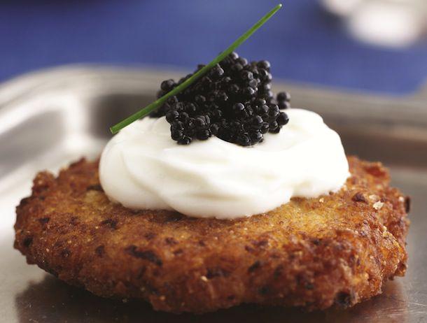 Latkes with Caviar and Cream