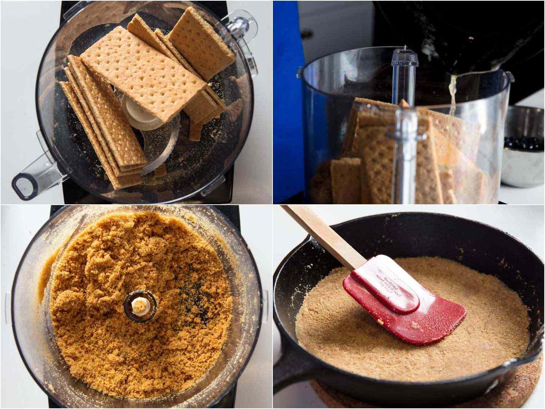 process of making graham cracker crust