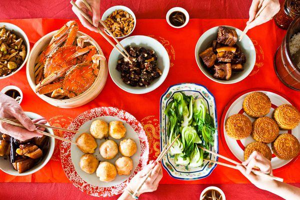Mid-autumn festival feast