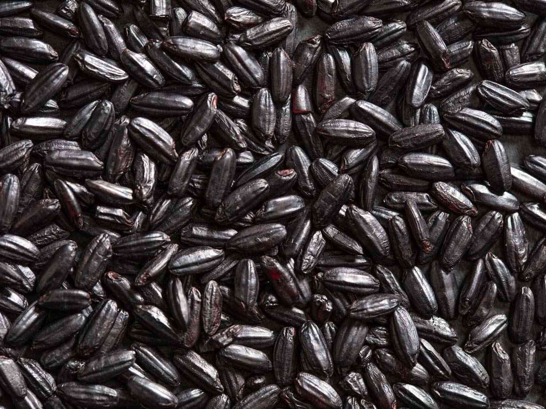 chinese black sticky rice, aka forbidden rice