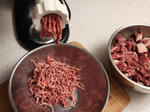 grinding beef