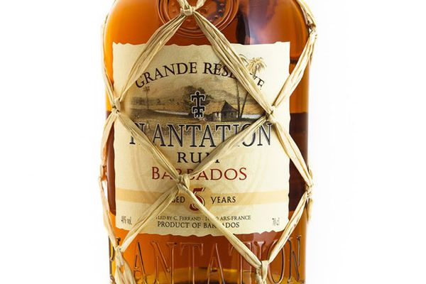 A bottle of Plantation Grande Reserve Barbados Rum, a bottle that is on our list of great tasting rum for under $20.