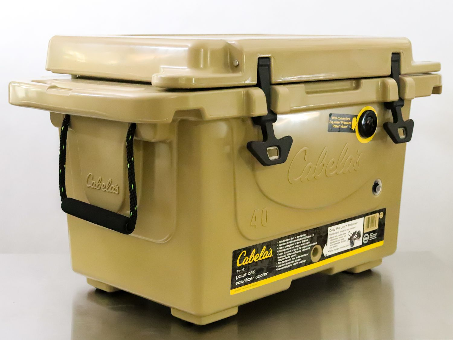a side angle view of the Cabela Polar Cap Equalizer cooler