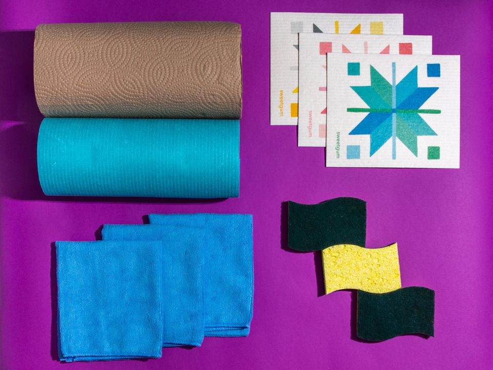 a group of paper towel alternative products