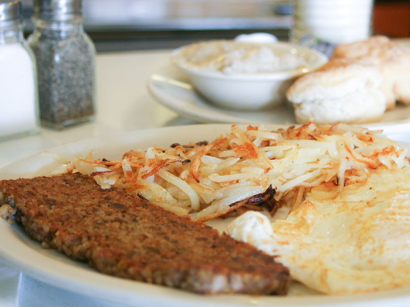 Goetta and Eggs at Anchor Grill in Covington, KY