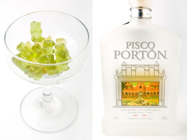 lime gummy bears and pisco