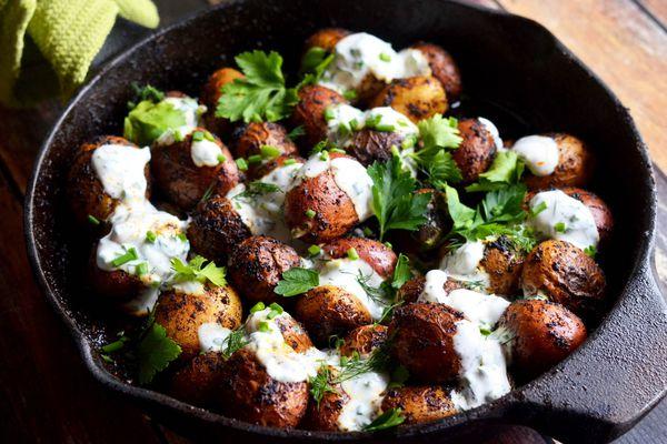 20150329-Skillet-Spiced-Potatoes-Buttermilk-Herb-Sauce-Pan-Morgan-Eisenberg.jpg