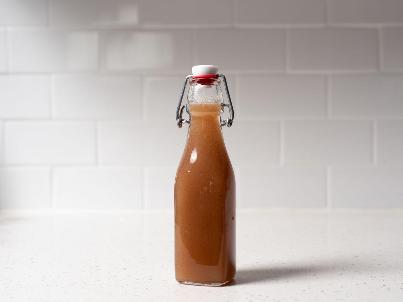 a bottle of orgeat