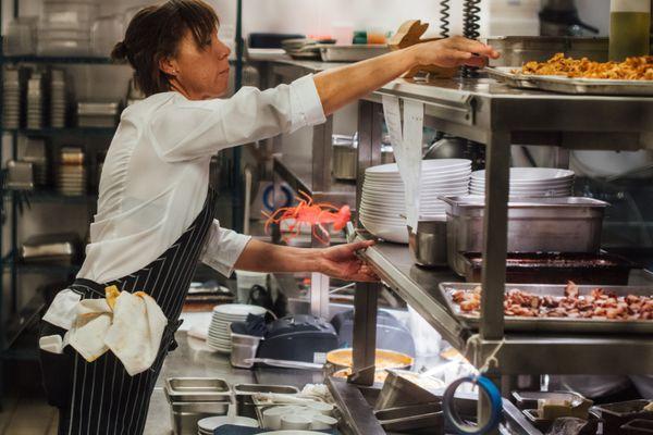 Nina Compton in CL Kitchen Photo Credit Denny Culbert