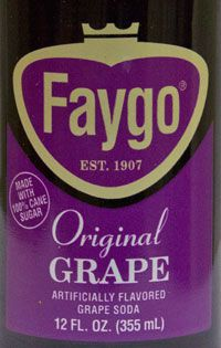 Faygo grape soda label