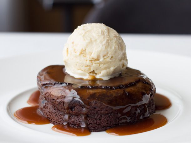 Chocolate Cake and Peanut Ice Cream at George's Ocean Terrace