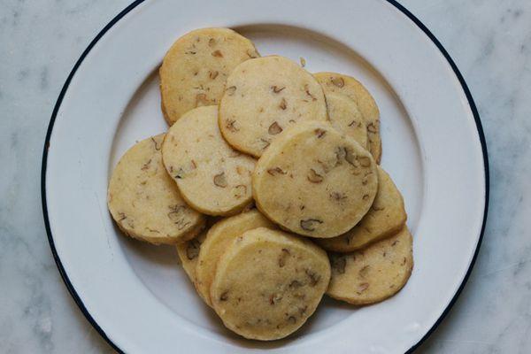 Wild Hickory Nut Shortbread Cookies