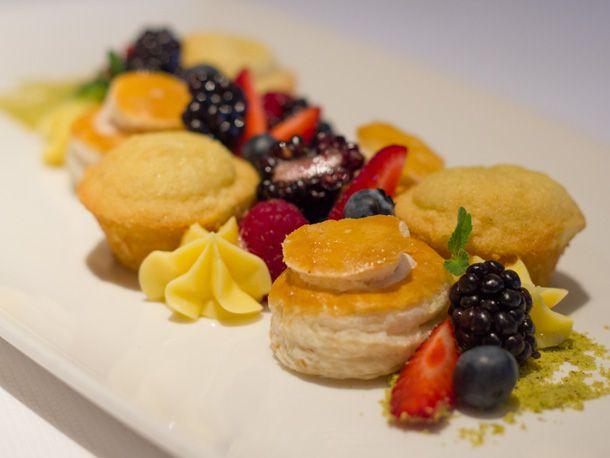 Meyer Lemon and Berry Dinner Dessert