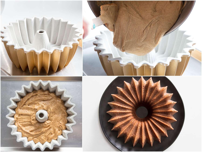 preparing, molding, and baking a Bundt cake