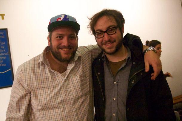 Joel Tietolman and Noah Bernamoff of Mile End, posing together.