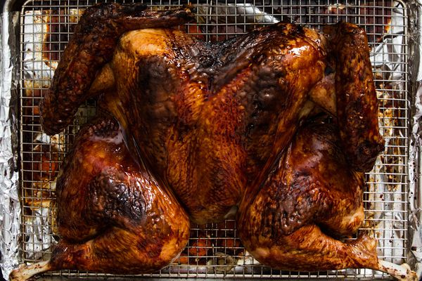 Chinese Red-Sauce-Glazed Spatchcocked Turkey