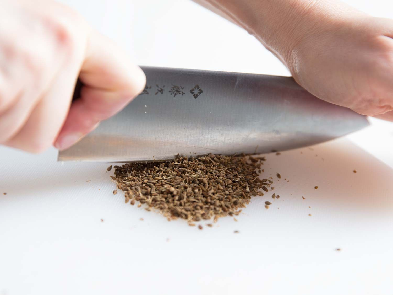 chopping anise