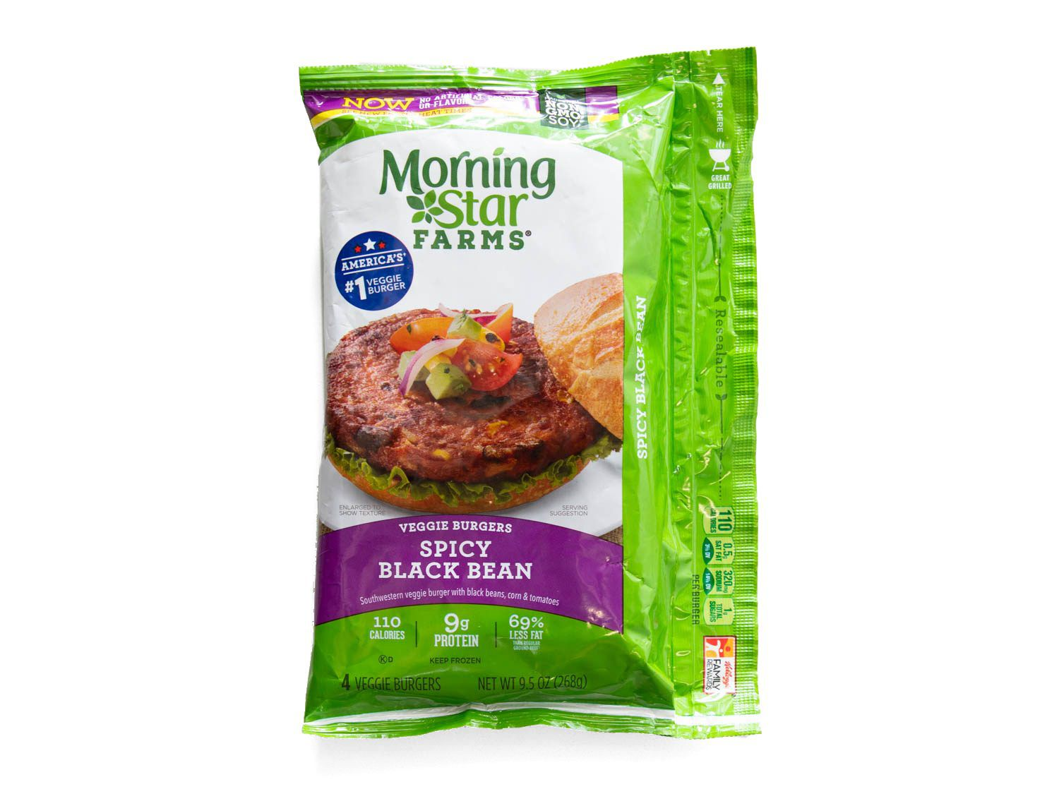 Product photo of MorningStar Farms Spicy Black Bean Burger