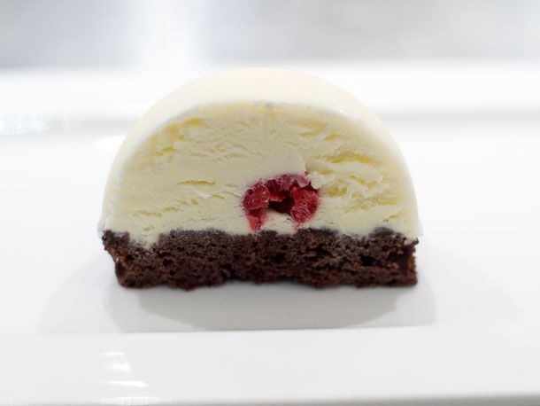 cross section of mousse bomb
