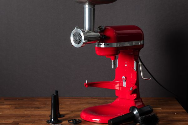 The KitchenAid stand mixer meat grinder attachment