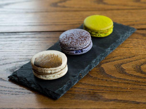 Macarons: Irish Coffee, Lavender & Chocolate, and Mango & Lime