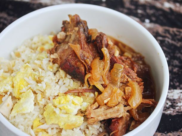 Sunday Supper: Slow Cooker Filipino Pork With Garlic Fried Rice