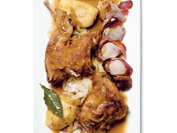 Cider-Braised Rabbit with Apples and Creme Fraiche