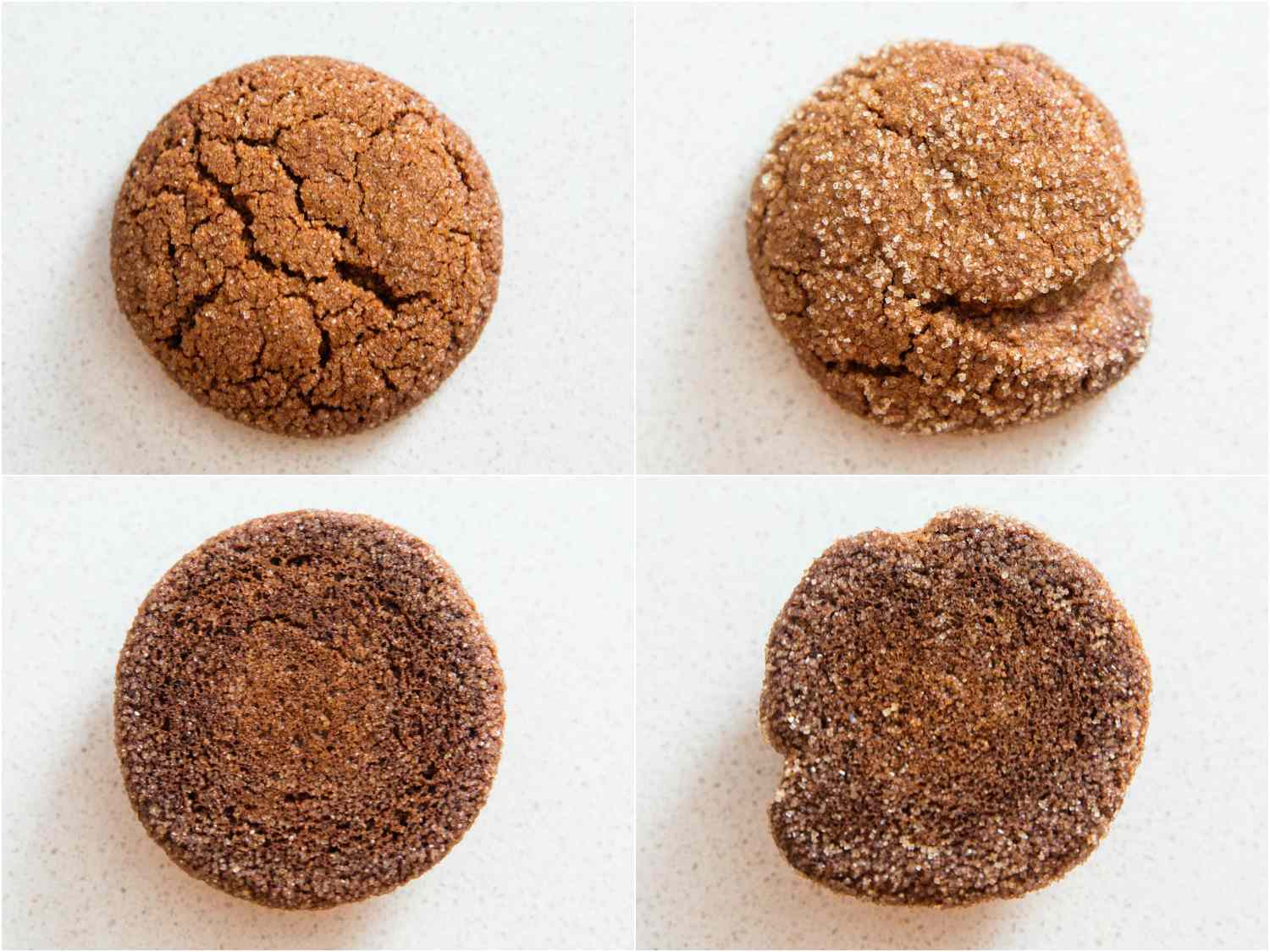Gingerbread cookies made with molasses and with blackstrap molasses