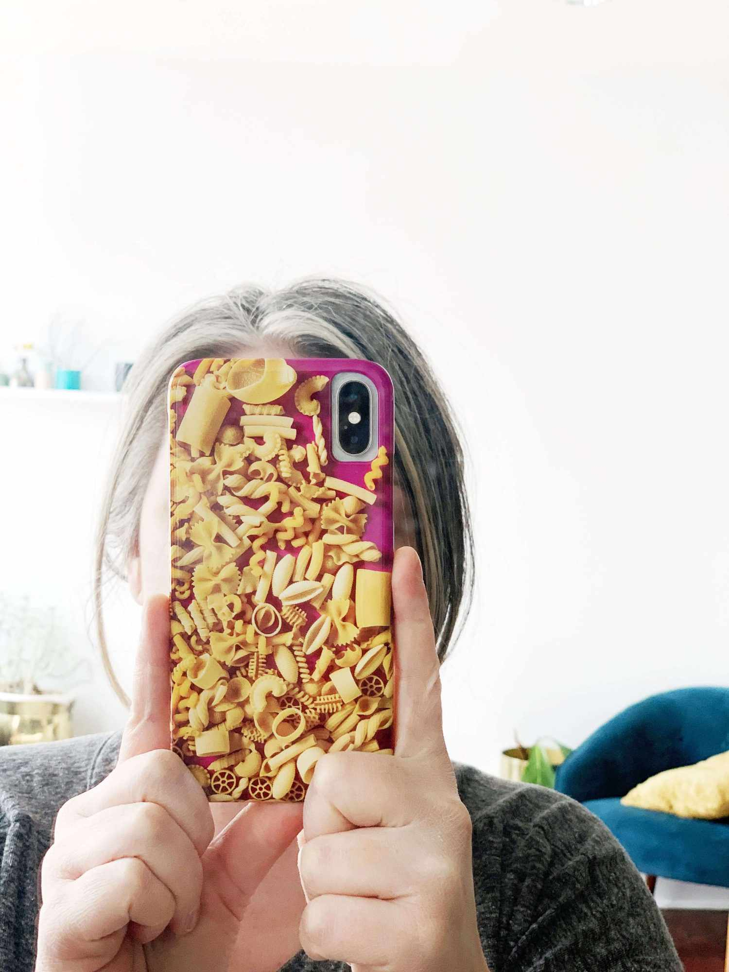 Example of pasta themed phone casing
