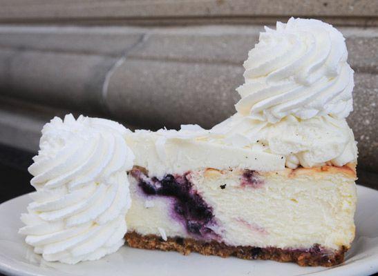 Wild Blueberry White Chocolate Cheesecake