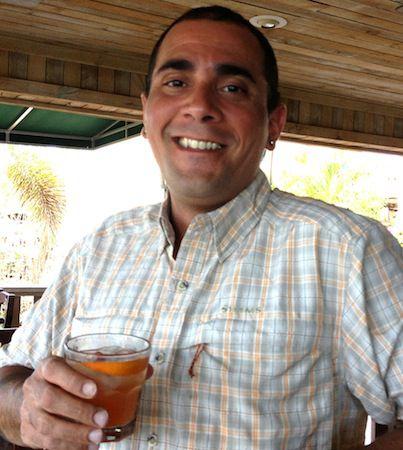 bartender holding cocktail