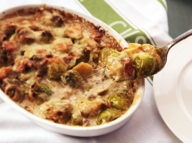 Over-the-Top Creamed Brussels Sprouts Gratin