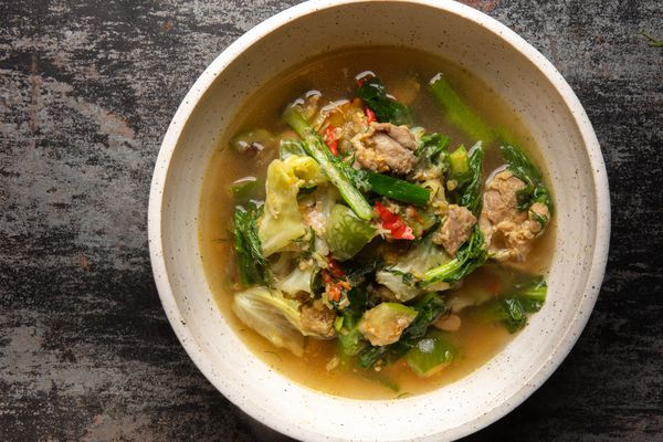 Gaeng Om Gai (Isan-Style Herbal Curry with Chicken and Dill)