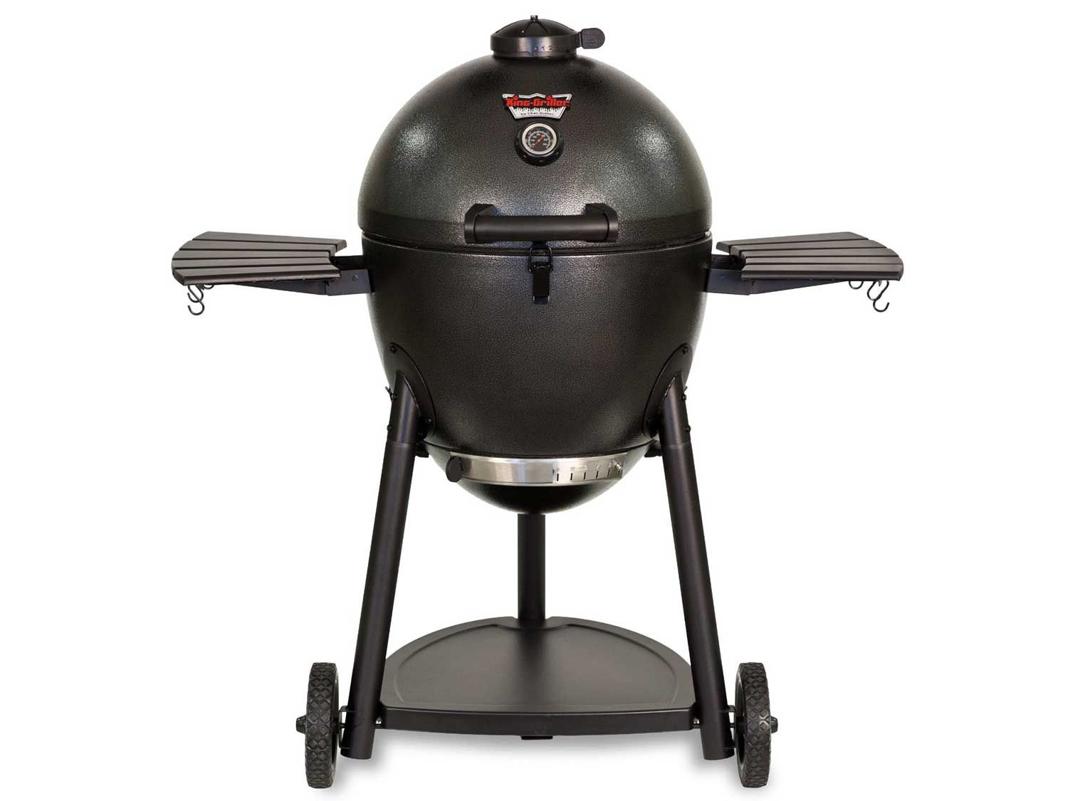 The Char-Griller Akorn Kamado Grill, a small, low-priced kamado-style cooker