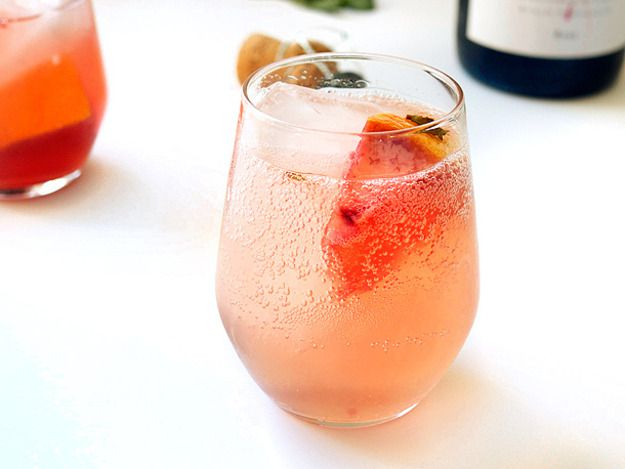 Sparkling Grapefruit Sangria With Lillet Rosé