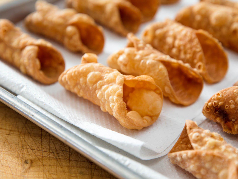 Homemade cannoli shells