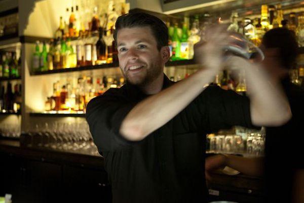 bartender shaking drink