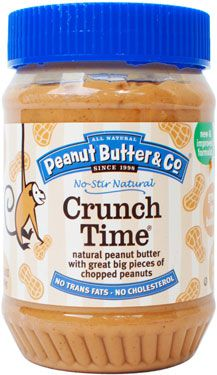 A jar of Peanut Butter & Company Crunch Time peanut butter