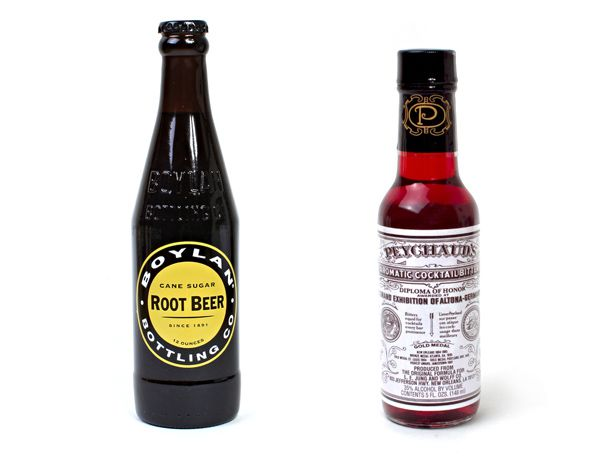 Root Beer and Peychaud's Bitters