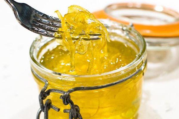 jar of candied citrus zest
