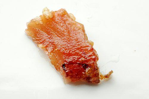 Crisp pork skin cooked at 250 degrees.