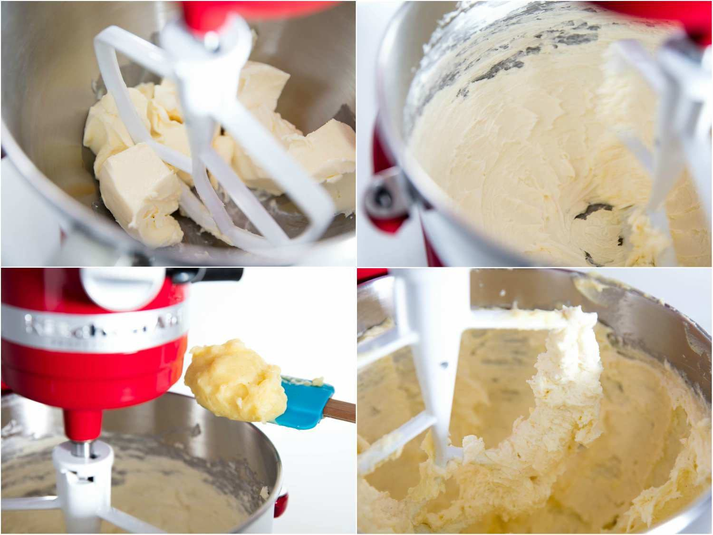 Beating butter and vanilla custard