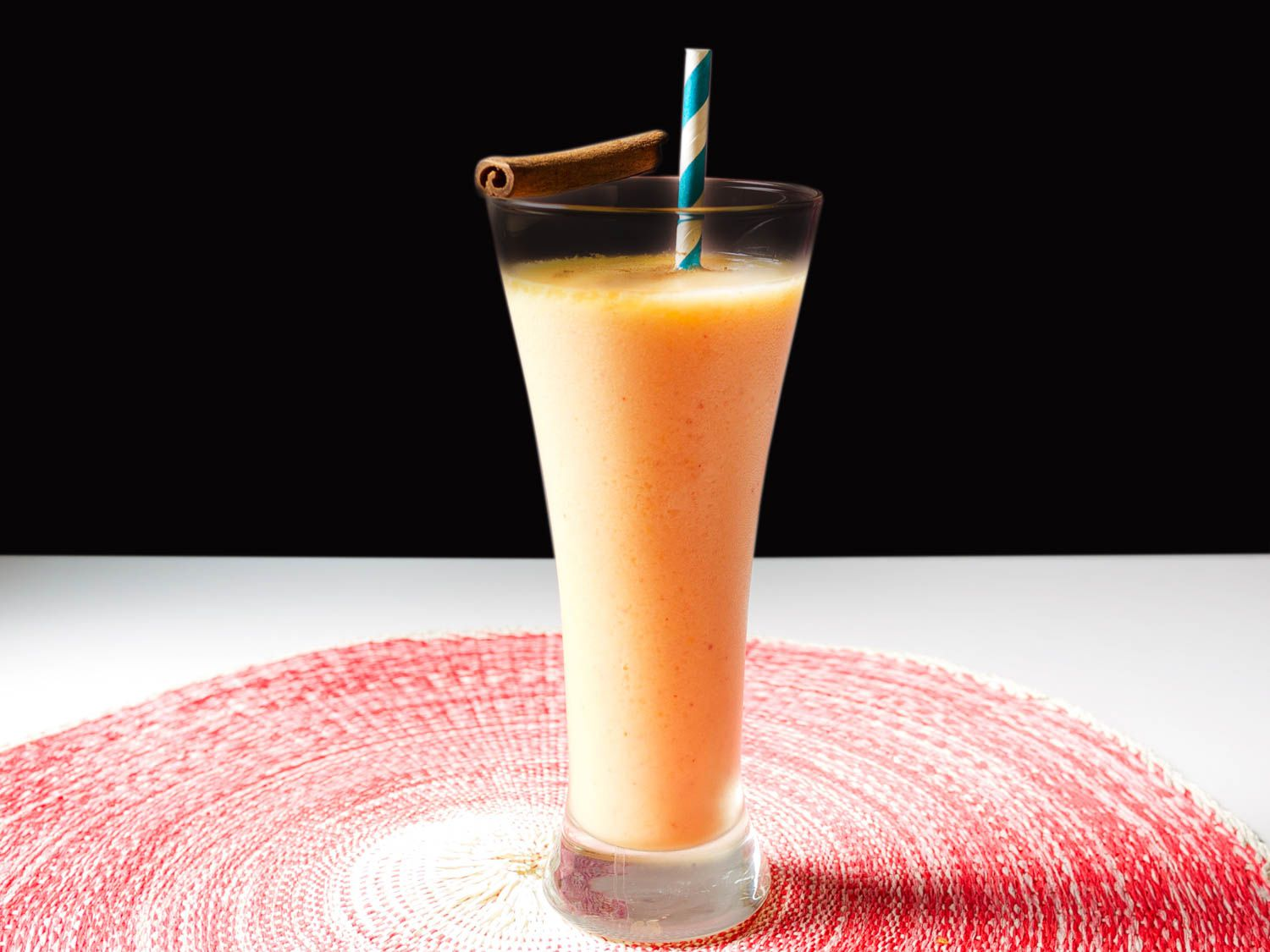 Peachy Rum and Coconut Frozen Blended Cocktail