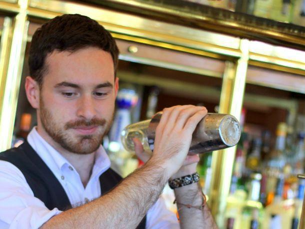 bartender shaking a drink