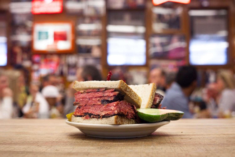 Pastrami sandwich at Katz's deli