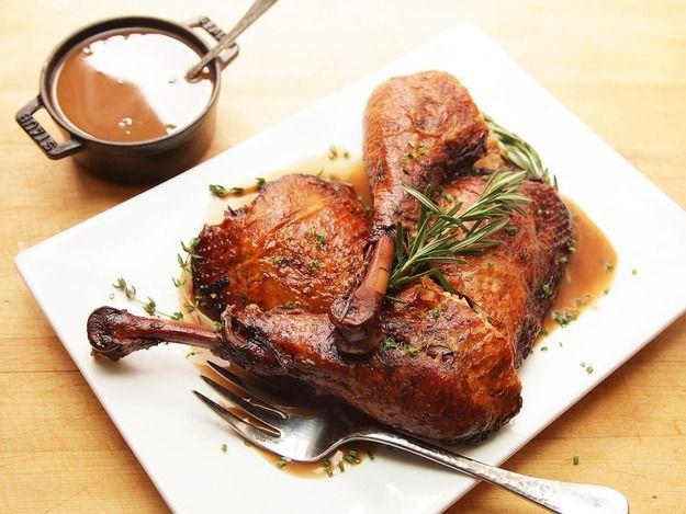 Red-Wine Braised Turkey Legs