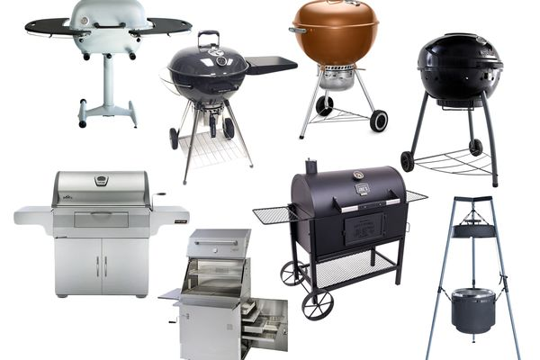 a collage of a variety of charcoal grills